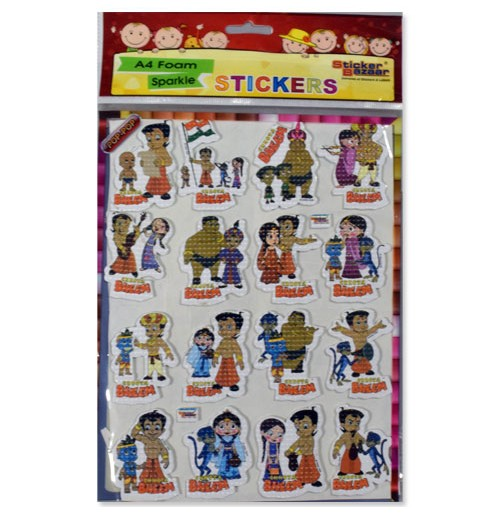 Chhota Bheem A4 Foam Stickers