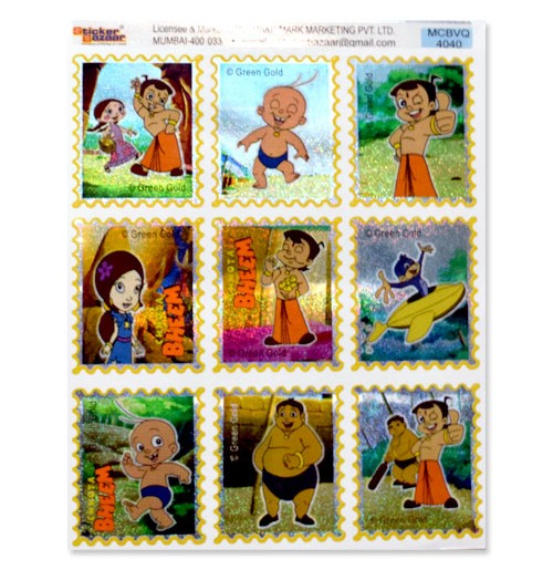 Chhota Bheem Stamp Stickers