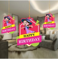 Birthday Decoration Hanging Swirls- Chutki Pack of 10 Pc