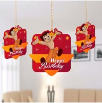 Birthday Decoration Hanging Swirls- Bheem-Pack of 10 Pc