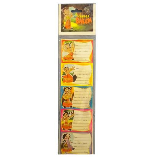 Chhota Bheem Book Labels Classic