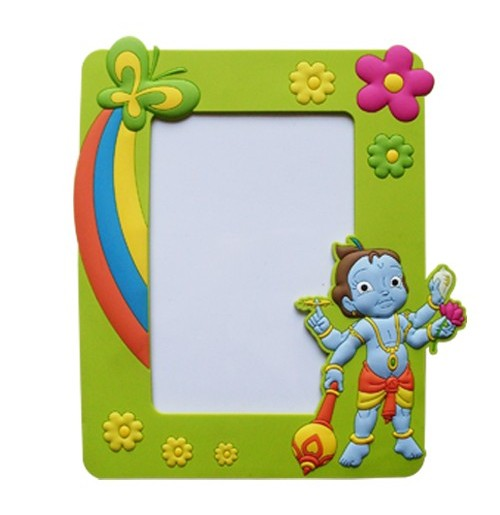 Krishna Photo Frame Green