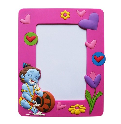 Krishna Photo Frame Pink