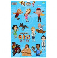 Mighty Raju Rio Calling - Stickers