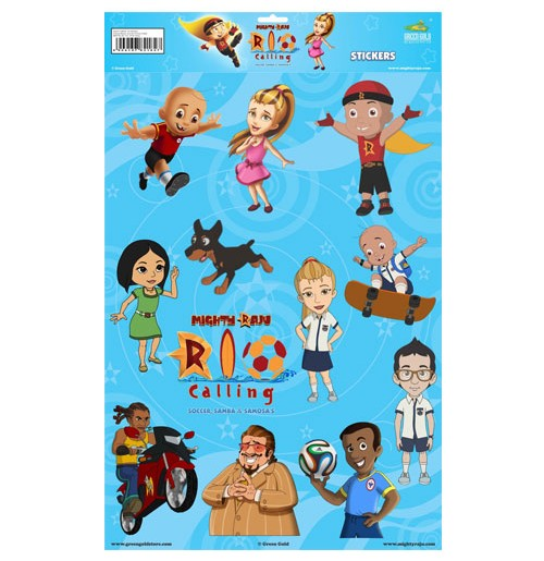 Mighty Raju Rio Calling - Stickers