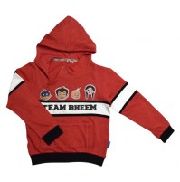 Chhota Bheem Hoodie Red and Black
