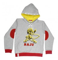 Mighty Raju Hoodie Grey and Red