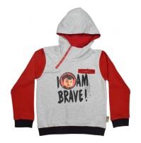 Super Bheem Hoodie Grey and Red