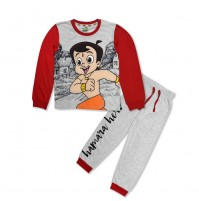 Chhota Bheem Night Suit Red and Grey