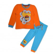 Mighty Raju Night Suit Orange and Blue