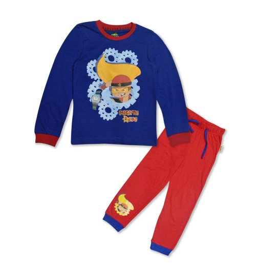 Mighty Raju Night Suit Navy Blue and Red