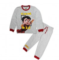 Super Bheem Night Suit Red and Grey