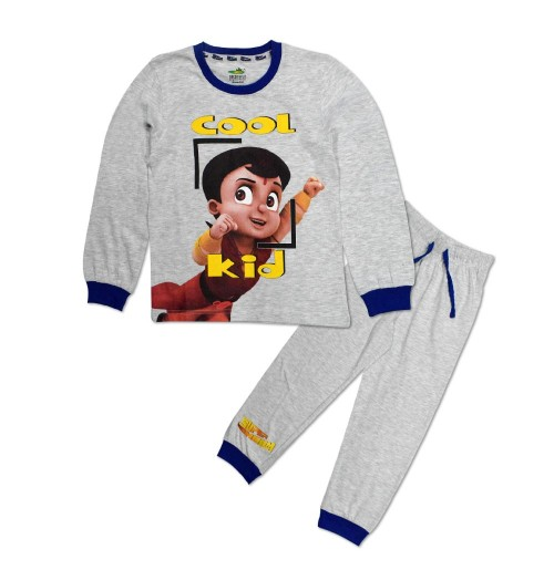 Super Bheem Night Suit Blue and Grey