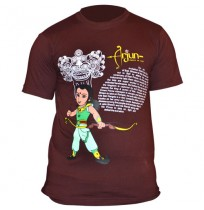 Chhota Bheem Mens T-Shirt - Brown