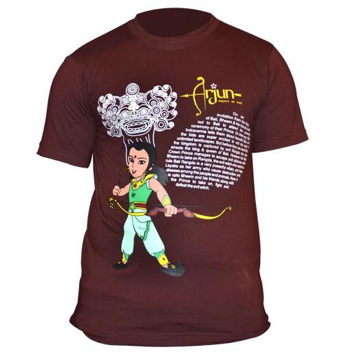 Chhota Bheem Mens T-Shirt - Brown