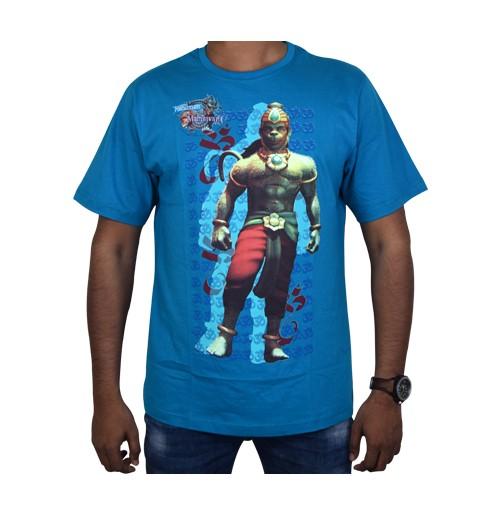 Hanuman Vs Mahiravana T-Shirt-Blue