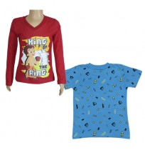 Chhota Bheem T-shirts- Combo Red and Blue