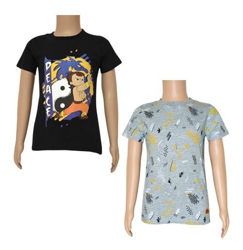 Chhota Bheem T-shirts- Combo Navy Blue and Grey