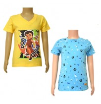 Super Bheem T-shirts- Combo Yellow and Blue