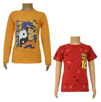 Chhota Bheem T-shirts- Combo Orange and Red