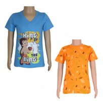 Chhota Bheem T-shirts- Combo Blue and Orange