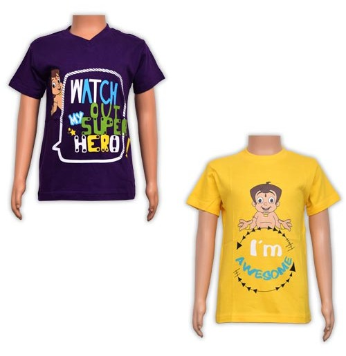 Boys T-Shirt Combo - Purple and Yellow