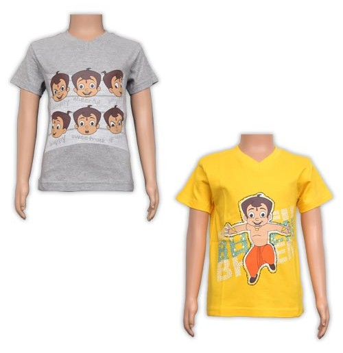 Boys T-Shirt Combo - Yellow and Grey