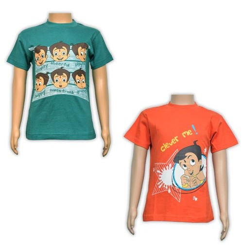 Boys T-Shirt Combo - Green and Orange