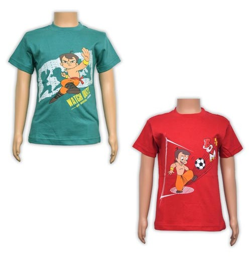 Boys T-Shirt Combo - Red and Green
