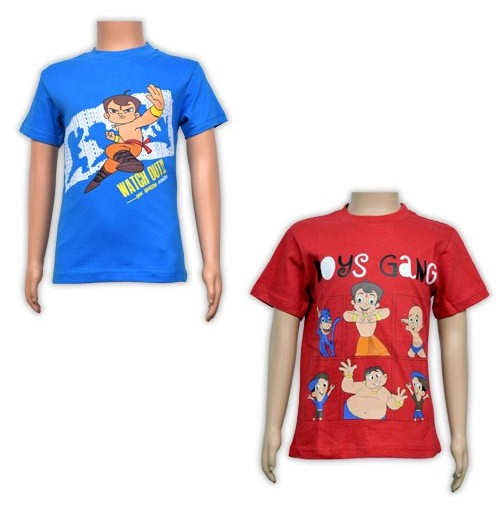 Boys T-Shirt Combo - Red and Blue