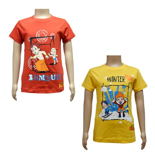 Boys T-Shirt Combo - Red and Yellow