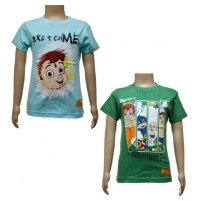 Boys T-Shirt Combo - Sky Blue and Green
