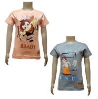 Boys T-Shirt Combo - Peach and Grey