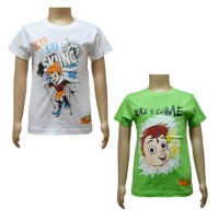 Boys T-Shirt Combo - White and Green