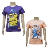 Boys T-Shirt Combo - Purple and Peach