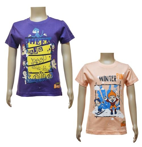 Boys T-Shirt Combo - Purple and Peach