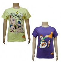 Boys T-Shirt Combo - Yellow and Purple