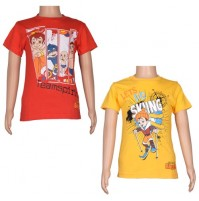 Boys T-Shirt Combo - Yellow and Red