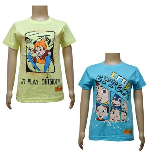 Boys T-Shirt Combo - Yellow and Blue