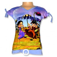 Chhota Bheem Digital Print Top - Multicolor