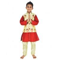 Ethnic Wear - Boys Dhoti Kurta 4 Pc Set