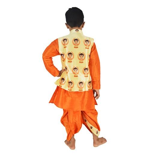 c2e1d2a5b Buy Chhota Bheem Embroidered Ethnic Wear | Boys Dhoti Kurta Pajama