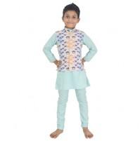 Ethnic Wear - Boys Kurta Pajama 3 Pc Set