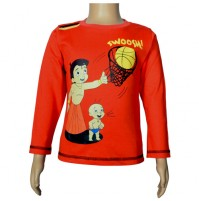 Chhota Bheem Full Sleeve T-Shirt - Fiesta Red