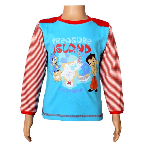 Chhota Bheem Full Sleeve T-Shirt - Blue Radiance