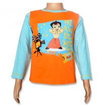 Chhota Bheem Full Sleeve T-Shirt - Bright Marigold