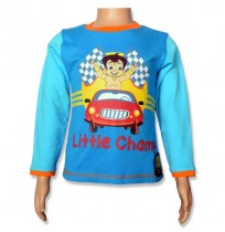Chhota Bheem Full Sleeve T-Shirt - Seaport Blue