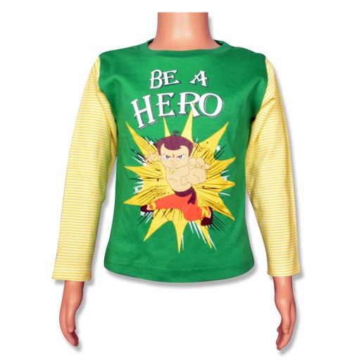 Chhota Bheem Full Sleeve T-Shirt - Bright Green