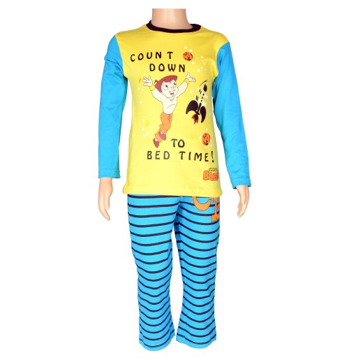Chhota Bheem Night Suit Yellow and Blue