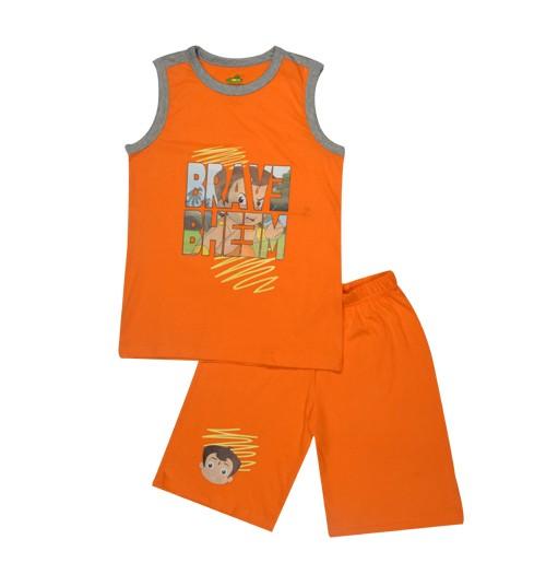 Chhota Bheem Short Set - Orange